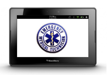 First responder tablet computer equipped with EHR software